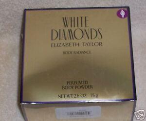 """WHITE DIAMONDS"" Perfumed Body Powder - IN BOX"