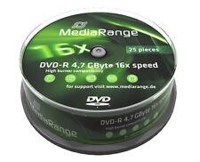 50 MEDIARANGE DVD-R 16X in CAKE da 25pz dvd r  CONFEZIONE MR403