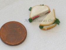 Sandwich vegetal de fimo miniatura 1/12 casa muñecas