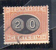 1890 REGNO SEGNATASSE 20 CENTESIMI USATO B/4430