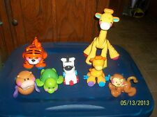 Fisher Price Amazing Animals Lot Walrus Tiger Elephant Monkey Giraffe Zebra +