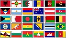 FRIDGE MAGNET - WORLD FLAGS (Various) Large Jumbo, A to C