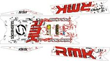 POLARIS RUSH PRO RMK  ASSAULT 144 155 163 STAR TOP & TUNNEL DECAL STICKER white