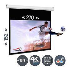 Beamer Leinwand Heimkino Motorleinwand 122 Zoll 270 x 150 / 16:9 Full HD 3D 4K