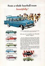 Lot of 6 1950s Vintage Magazine Print Ads Evinrude 56 Chevrolet Nomad Pontiac