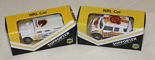 Brisbane Broncos 2014 + 2015 NRL Kids Collectable Mini Model Car Twin Pack New
