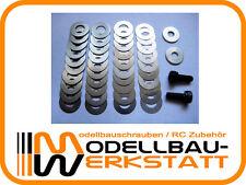 Kupplungsglocke-Befestigung-SET OFF-ROAD Passscheiben/Zentelscheiben + Schrauben
