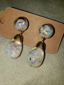 827 Floating Opal Interchangeable Earrings