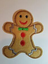 Gingerbread Man Iron On Patch Sew On Transfer Cute Food Patch