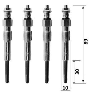 4 bougies de préchauffage pour 1.9d moteur DW8 206 306 xsara partner 1,9l diesel