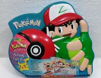 "POKEMON ""piccola borsa ASH Activity fun Kit"" Nintendo 1999 RoseArt-cm. 27x23"