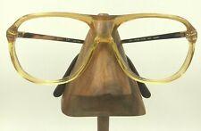 Vintage Charmant 4501 B01 CP Yellow Transparent Aviator Eyeglasses Frames Japan