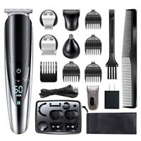 Hatteker 5-in-1 Pro Hair Trimmer Cordless Hair Clippers Rechargeable LED Display