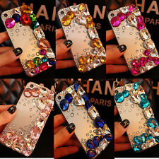 New Luxury Bling Rhinestone Crystal Diamonds Clear Case Cover For iPhone/Samsung