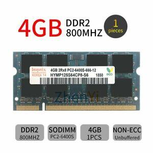 4GB PC2-6400 DDR2-800 200Pin SODIMM NON ECC Laptop kit mémoire RAM pour Hynix FR