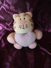 GEORGIE AND FRIENDS PUSSY CAT SOFT TOY CREAM BROWN PINK BEANIE COMFORTER KITTY