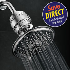 HotelSpa 6 Setting 6 Inch Rainfall Shower Head & Universal 2 Stage Shower Filter