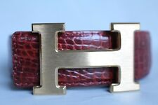 Unjointed - Red Brown Genuine CROCODILE LEATHER Skin Men's Belt -W 1.5''