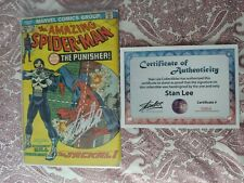 Amazing Spider-Man #129 Not CGC Signed Stan Lee COA 1st Punisher MCU Berenthal