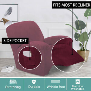 Stretch Sofa Cover Recliner Chair Couch Slipcover Mat Armchair Soft  A~