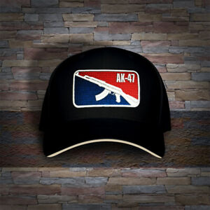 Russian AK-47 Rifle mlb Embro Cap Hat