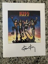 KISS Destroyer Album Cover Autographed 8X10 Photo Signed By Artist Ken Kelly