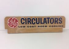 Vintage Original GE General Electric CIRCULATORS Fan Sign Dealer Display 35""
