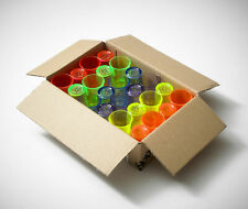 More details for 24 x plastic neon shot glasses reusable bbp econ shot glass 25ml ce stamped