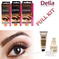 Delia Cosmetics Dye Eyelash and Eyebrow Professional Tint Lash Tinting Kit Color