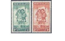 New Zealand 1942 HEALTH (CHILDREN on SWING) (2) Unhinged Mint SG 634-5
