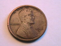 1916-S Lincoln Cent Choice F Sharp Fine Nice Toned Original Wheat Penny USA Coin