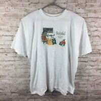 Vintage Fruit Of The Loom Best White Learning And Basketball T-Shirt - Size 3XL
