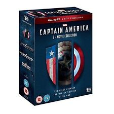 Captain America 3-movie Collection Blu-ray 3d Region