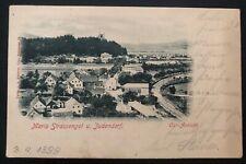 1899 Judendorf Austria Real Picture Postcard cover RPPC To Graz City View