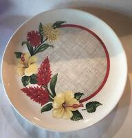 4- Harmony House Vintage Hawaiian Tropical Ceramic Plates
