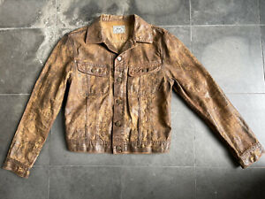 Polo Ralph Lauren Brown Waxed Cotton Trucker Jacket Small NWOT