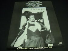 HERBIE MANN is SUPERMAN in a phone booth... ORIGINAL 1978 PROMO POSTER AD mint