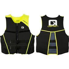 "O'Brien Men's Hinged Neoprene Life Vest Sz Small (32""-36"") 2162743 Black/Yellow"