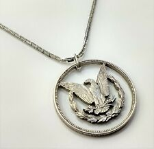 Cool Morgan Silver Dollar Coin Nice Pendant & Chain Monet Jewelry