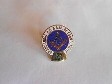 Vintage Grand Lodge AF & AM of Connecticut 55 Years of Membership Enamel Pin