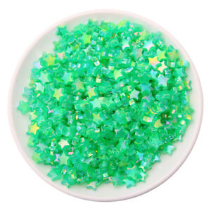 100PCS10mm Acrylic Candy Color Star Heart Acrylic Loose Spacer Beads DIY Jewelry