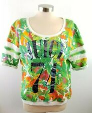 2150c36800 Juicy Couture Hawaiian Floral Top L Short Sleeve Juicy 74 Size XL Crop Top