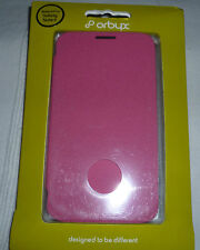 Galaxy Note II faux leather flip case by Orbyx  - Pink (1st class p+p)
