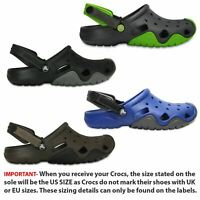 Crocs Swiftwater Clogs Sandals in Black, Brown & Green 202251