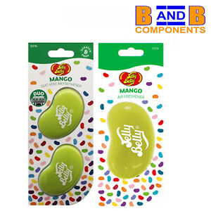 Jelly Belly MANGO DUO VENT & 3D Gel Car Air Fresheners A1772