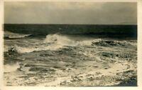 uralte AK, Meer, Wellenbrecher am Strand von Norderney?