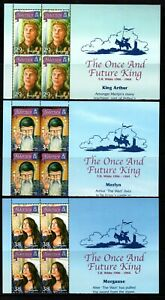 Alderney Stamps 2006 SG A267-A272 The Once and Future King Blocks of 4 Mint MNH