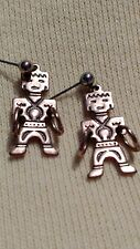 Signed, Copper Kachina Doll Earrings - Drop with Sterling Silver Posts