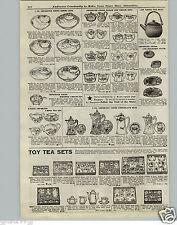 1921 PAPER AD Toy Play Tea Sets Pots Cups Saucers Chocolate Pot Sets