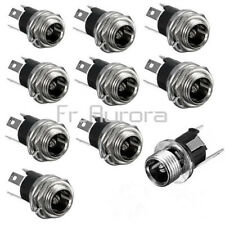 5PCS DC Power Supply Jack Socket Female Panel Mount Connector 3-Pin 5.5 x 2.1mm
